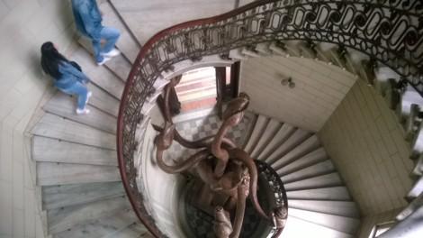 Scara spirala in Octogon - Palatul Comertului Bucuresti