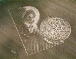 English crop circle agriglyph