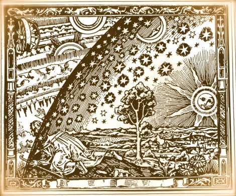 Old Kabbalah engraving – Look through into Beriah (Creation)