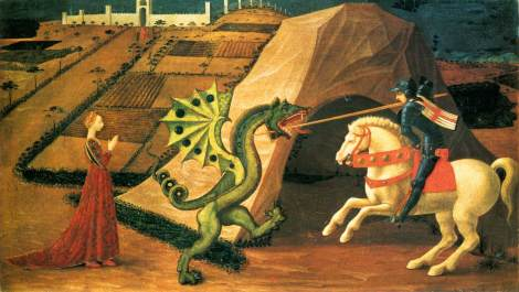 Saint-George-and-the-Dragon-by-Paolo-Uccello