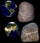 World Map Stone