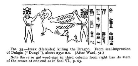 Izzax Hercules killing the Dragon