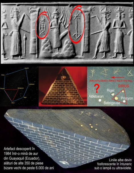 Pyramid with Eye Sumerian Symbols