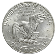 1973 Type 1, Silver Ike Dollar Rev